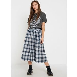 UO Penny Plaid Belted Midi Skirt